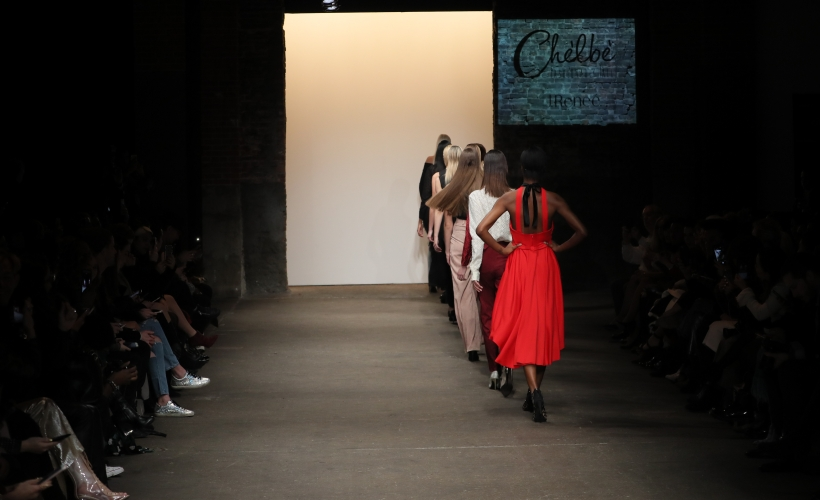 The Chelbe Fall/Winter 2017 collection on the Nolcha Shows runway during New York Fashion Week